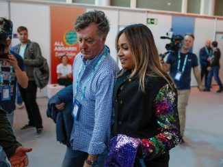 Jessica Mauboy and Paul Clarke